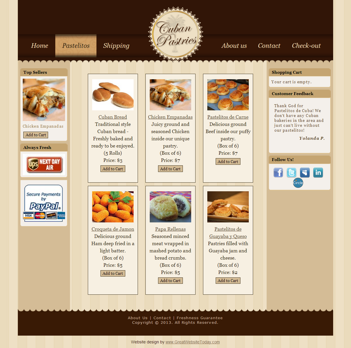 Cuban Pastries Website